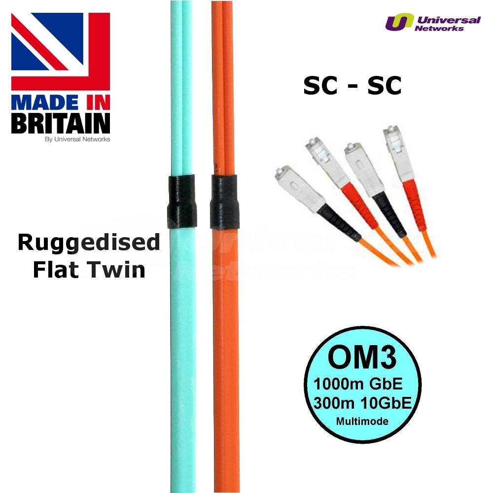 Ruggedised Fibre Cable OM3 SC