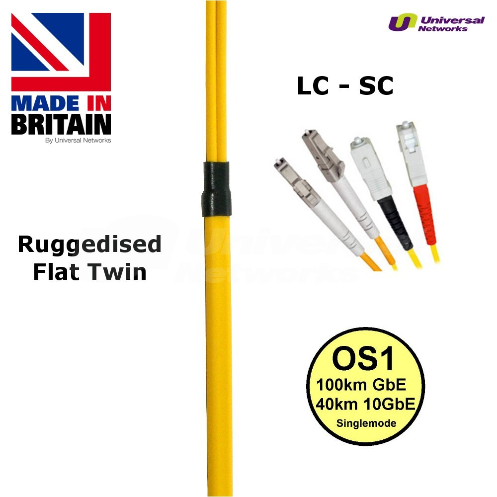 Ruggedised  Fibre Cable Single Mode  LC-SC