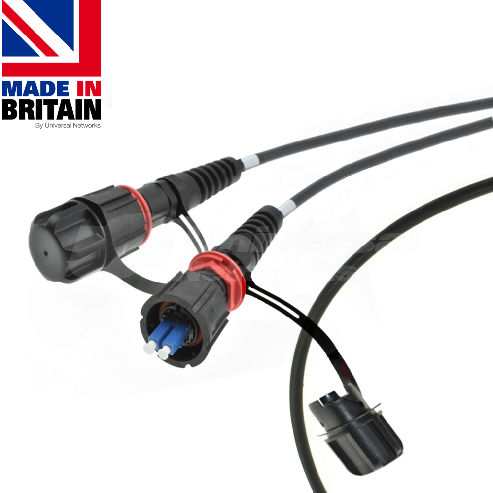IP68 Fibre Tactical Patch Cable OM3