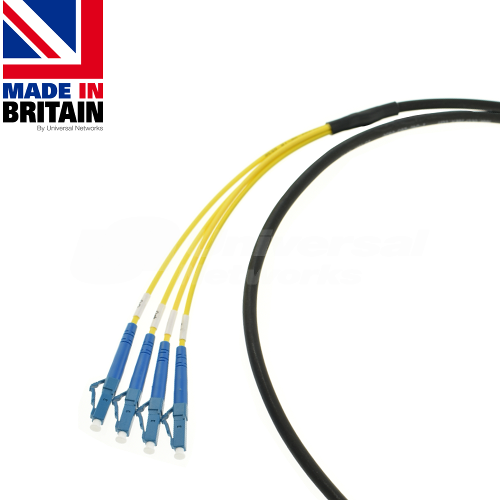 Tactical Fibre Patch cable with LC SImplex Singlemode