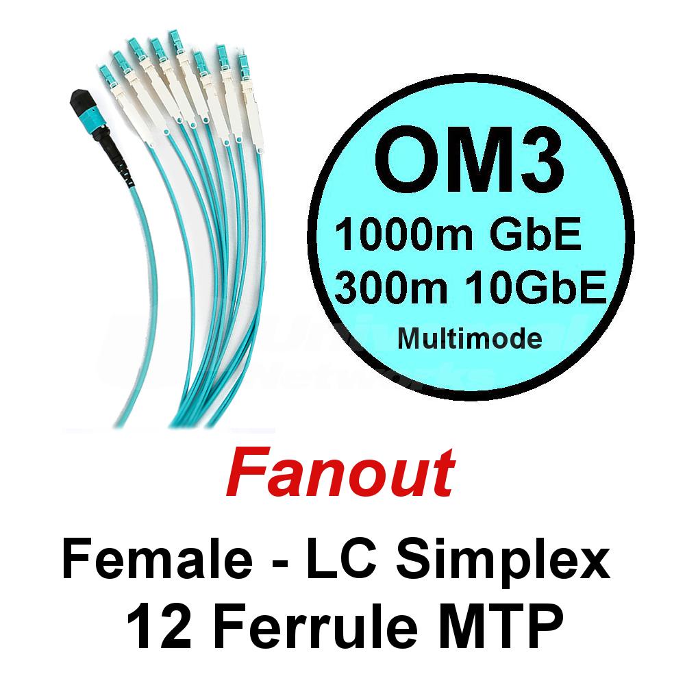 Lite Linke 12 Fibre OM3 Fanout - LCHD Simplex