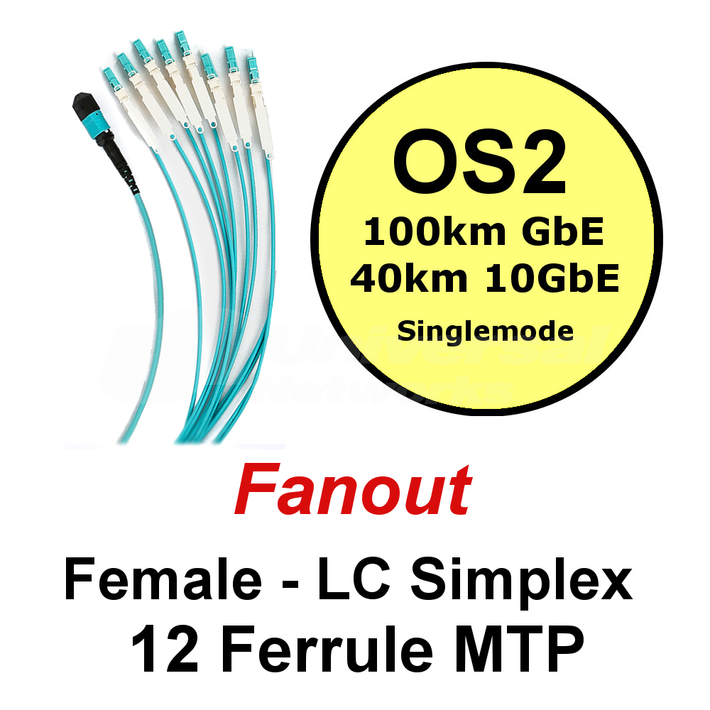 Lite Linke 12 Fibre OS2 Fanout - LCHD Simplex