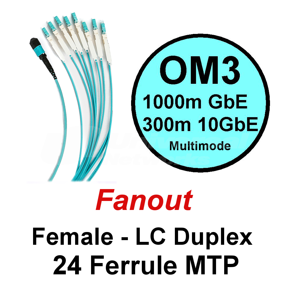 Lite Linke 24 Fibre OM3 Fanout - LCHD Duplex