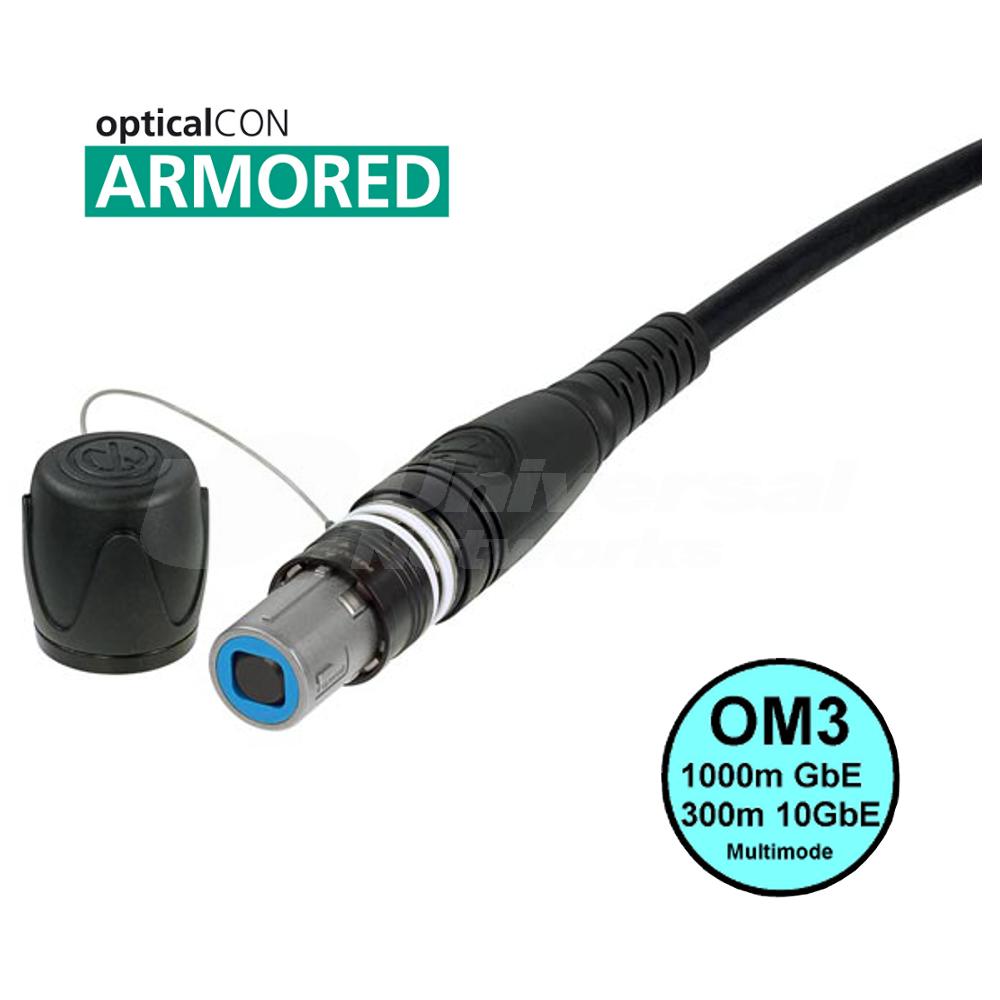 Neutrik opticalCON QUAD ARMOURED Multimode