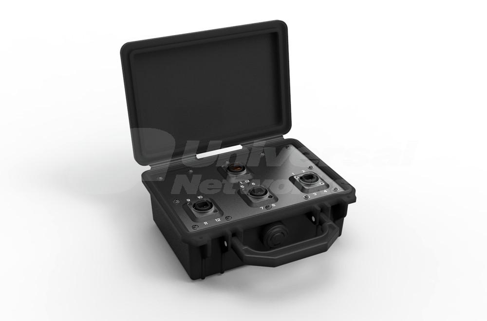 Neutrik opticalCON Breakout Box, pre loaded with 1x MTP and 3x QUAD, Multi Mode