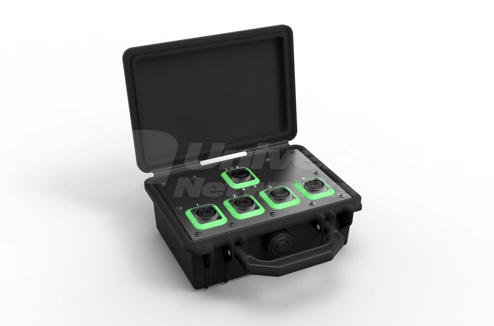 NO4SABB4D Neutrik OpticalCon Breakout Box