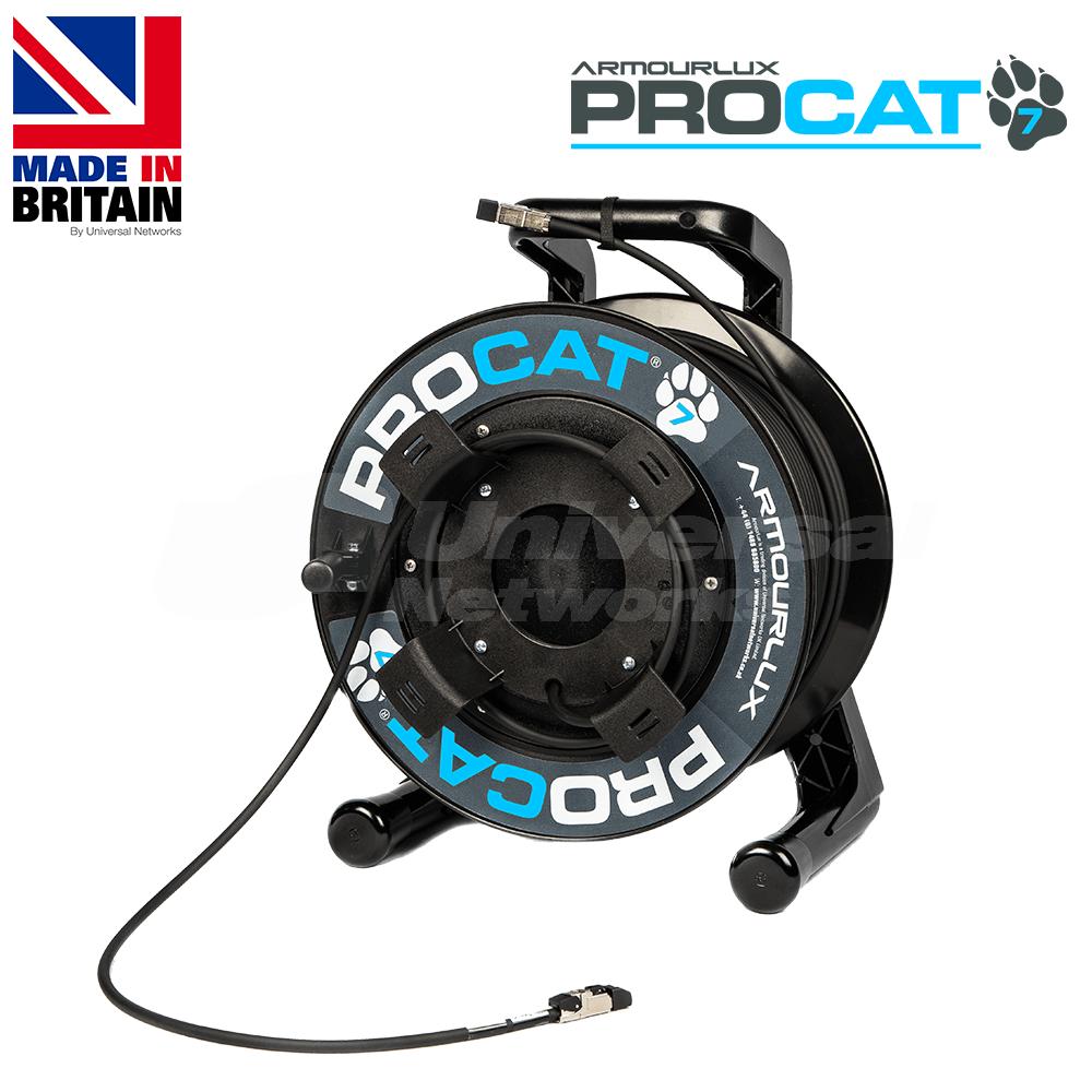 PROCAT7 Cat6a/7 PUR, 2x Datatuff RJ45 Plugs