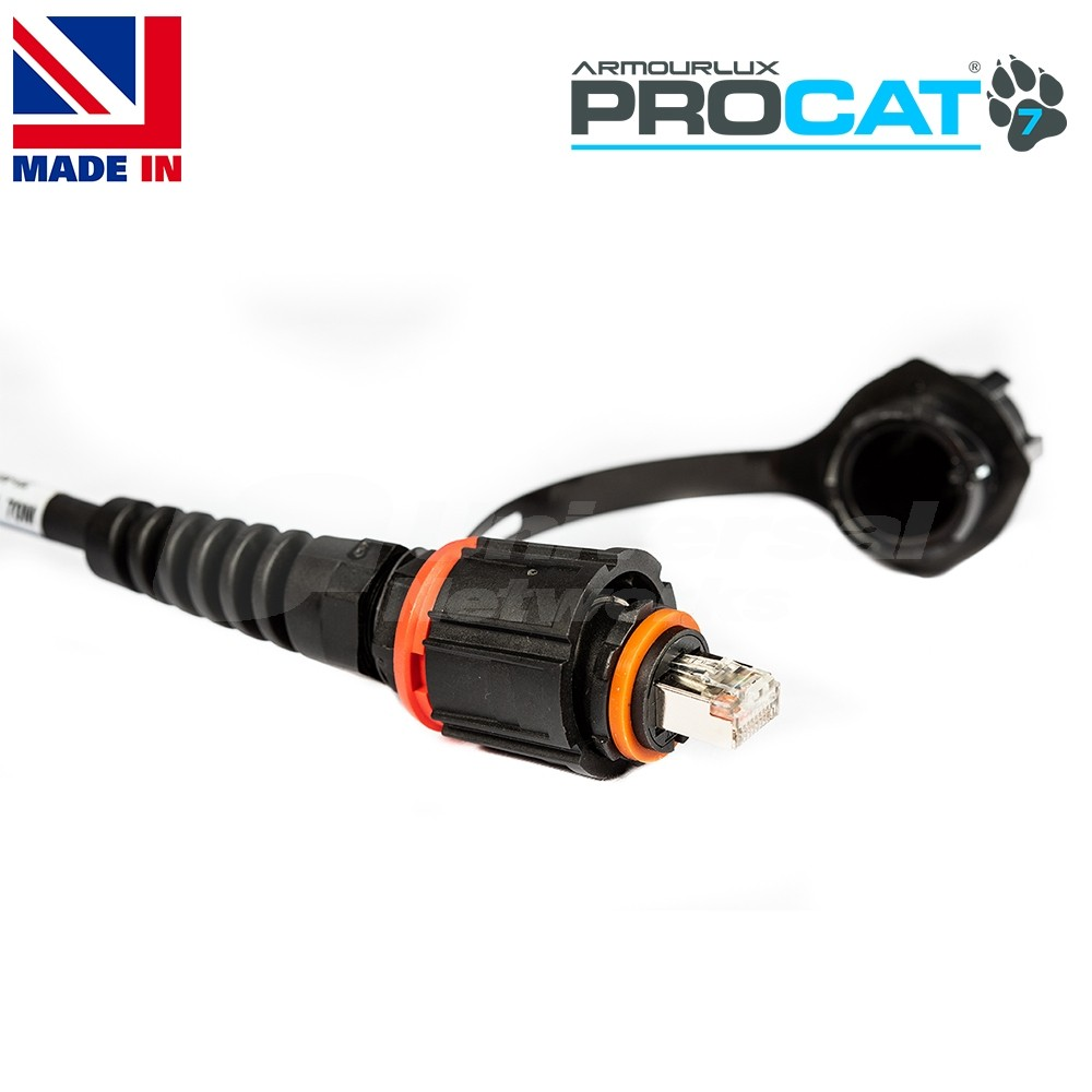 PROCAT7 Cat6a/7 PUR, 2x IP-RJ45 Plugs, no reel