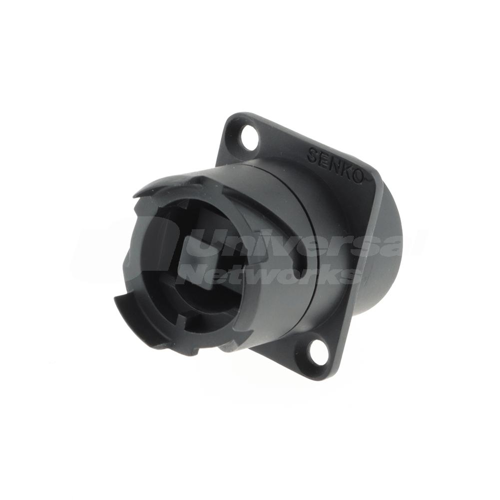 SENKO IP XLR / D-Series MPO Feed-through Coupler with dust cap, Key up to Key down