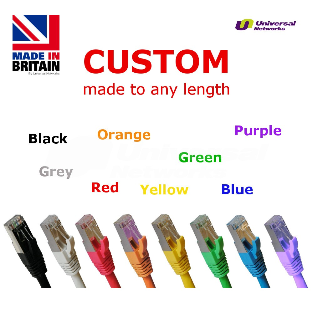 Category 5e LSZH Shielded STP, 8 Colours, any length