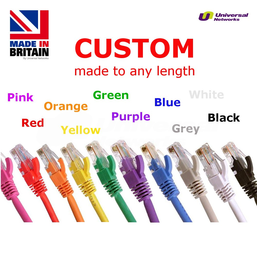 Category 5e PVC Shielded FTP, 10 Colours, any length