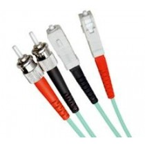 Armoured OM3 LSZH Fibre Patch Cable, ST-SC