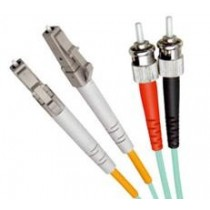 Armoured OM3 LSZH Fibre Patch Cable, LC-ST
