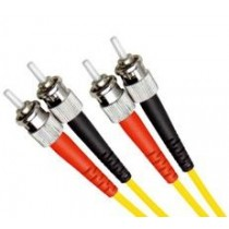 Single Mode Duplex Fibre Patch Cable, ST-ST, OS1
