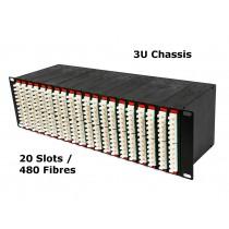 Lite Linke 3U 20 Slot MTP Cassette Chassis Front