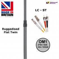 Ruggedised Multi Mode LSZH Fibre Patch Cable LC-ST