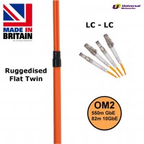 Ruggedised Multi Mode LSZH Fibre Patch Cable LC-LC