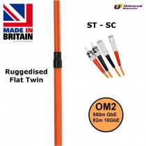 Ruggedised Multi Mode LSZH Fibre Patch Cable ST-SC