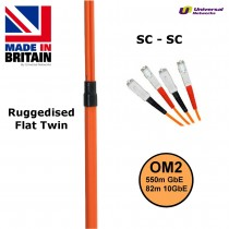 Ruggedised Multi Mode LSZH Fibre Patch Cable SC-SC