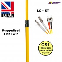 Ruggedised Single Mode LSZH Fibre Cable, LC-ST