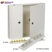 LC Single Mode Wall Box, Double Door Lockable