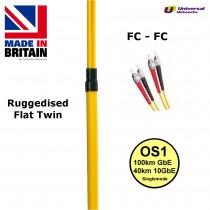 Ruggedised Fibre Patch Single Mode FC