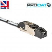 PROCAT7 Cat6a/7 PUR, 2x Datatuff RJ45 Plugs, no reel