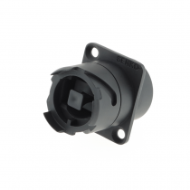 SENKO IP XLR / D-Series MPO Feed-through Coupler with dust cap, Key up to Key down
