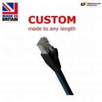 Cat6a PUR Shielded S/FTP, Black, any length