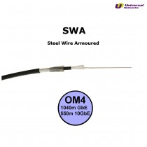 Multi Mode 50/125 OM4 Loose Tube, Internal/External, Steel Wire Armoured, LSZH, per metre