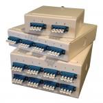 LC Quadplex Single Mode Wall Mount Breakout Box