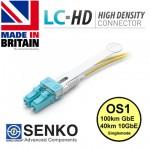 Single Mode Duplex Fibre Patch, 9/125, SENKO LC-HD PULL TAB