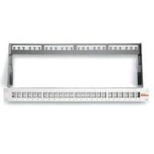 Datwyler 24 Port Keystone Patch Panel, Shielded (unloaded -requires snap-in modules), 1U-0