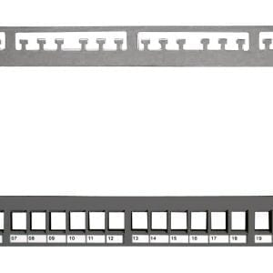 Datwyler 24 Port Keystone Patch Panel, Shielded (unloaded -requires snap-in modules), 1U