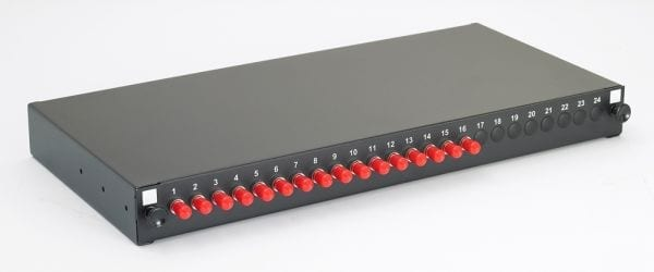 singlemode ST fibre panel