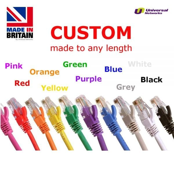 Category 6 LSZH Unshielded UTP, 10 Colours, any length-0