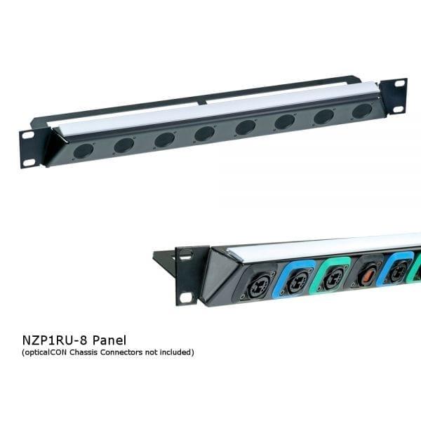 Neutrik NZP1RU-8 opticalCON Panel
