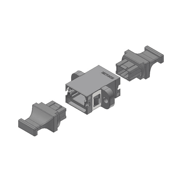 MTP® / MPO Fibre Coupler Aligned Keyway, Grey-0