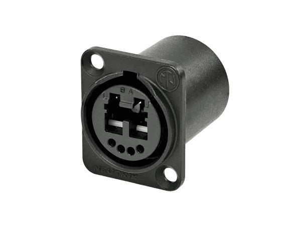 Neutrik opticalCON Chassis Connector NO2-4FDW-A