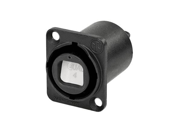 Neutrik opticalCON Chassis Connector NO4FDW-A